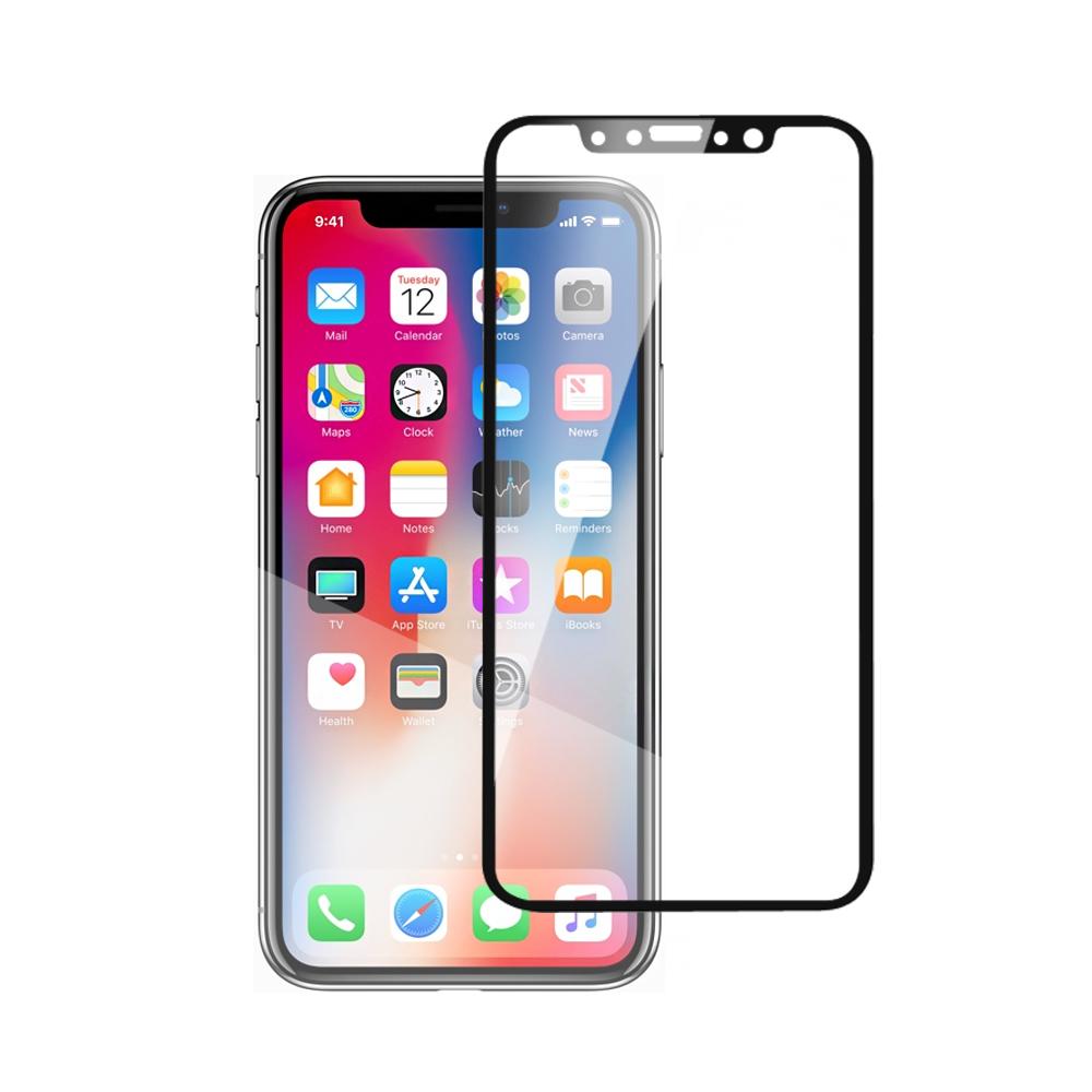 iPhoneX 3D曲面9H鋼化玻璃保護貼(黑)