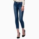Levis 女款 Revel 中腰緊身提臀牛仔長褲 高彈力塑型布料 湛藍水洗