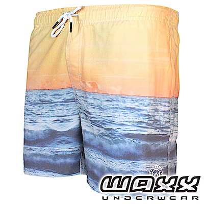 WAXX 熱浪系列-夕陽無限快乾型男海灘褲(15英吋)