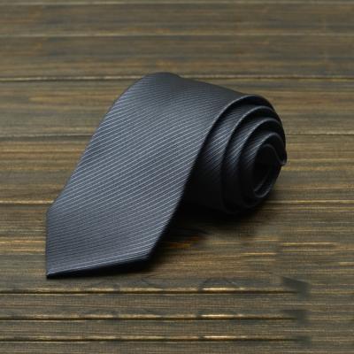 拉福  防水領帶8cm寬版領帶拉鍊領帶  深灰