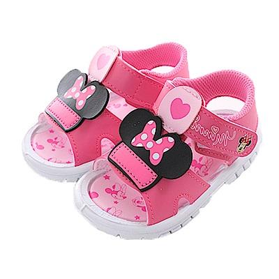 迪士尼米妮寶寶嗶嗶涼鞋 桃 sk0388 魔法Baby