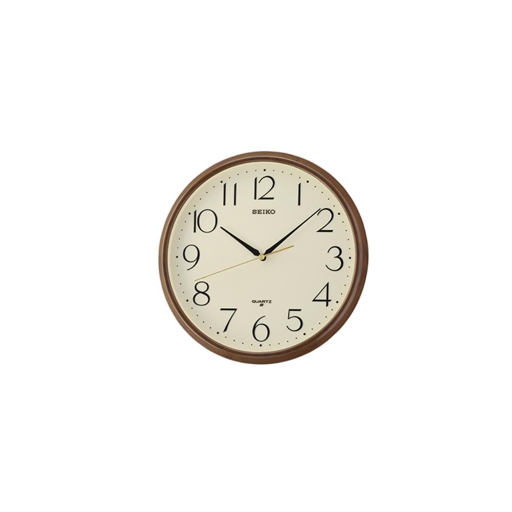 SEIKO 日本精工 掛鐘 時鐘(QXA695B)咖啡-黃/28cm