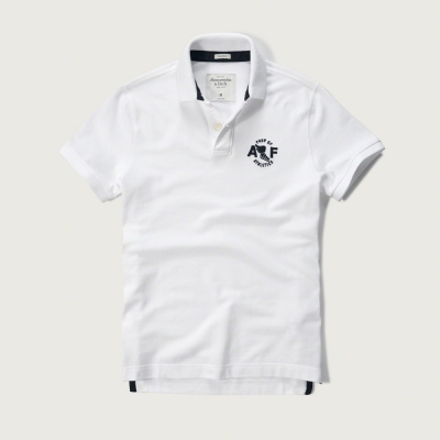 AF a&f Abercrombie & Fitch 短袖 POLO 白色 180