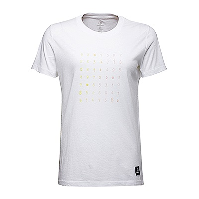 CONVERSE-女休閒短T恤10007513A01-白