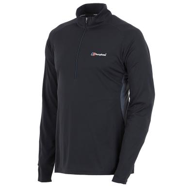 【Berghaus 貝豪斯】男款銀離子圓領衫S15M03-黑