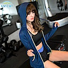 台灣品質‧世界同布~撞色滾邊抗UV透氣連帽外套.5色-OB大尺碼