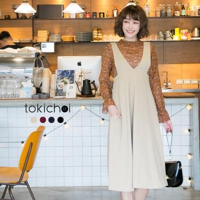 東京著衣 多色雜誌款高腰連身裙-S.M.L(共四色)