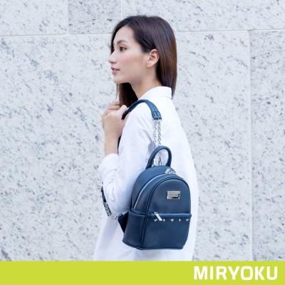 MIRYOKU 時尚星彩系列 / 鉚釘鏈帶3WAY小後背包(共3色)