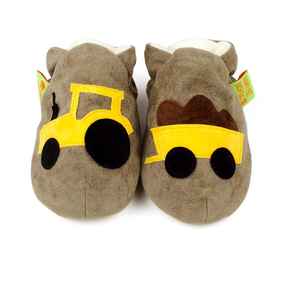 英國 Funky Feet 室內手工鞋- 咖啡小貨車 FF00100