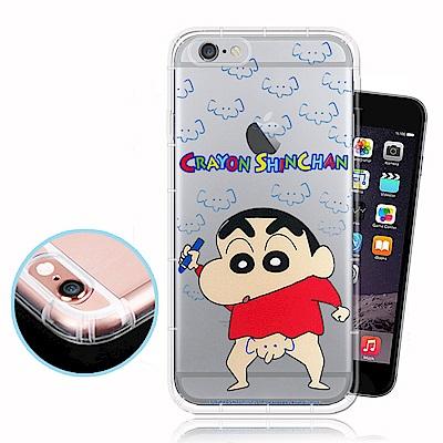 蠟筆小新正版授權 iPhone 6s Plus 透明彩繪空壓保護殼(大象)