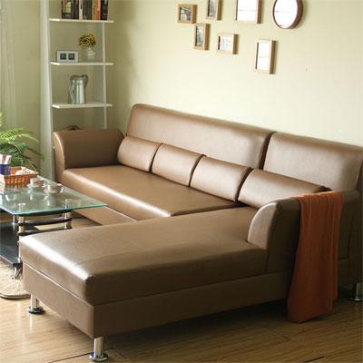 COUCH-艾菲爾L型皮沙發組-三色可選