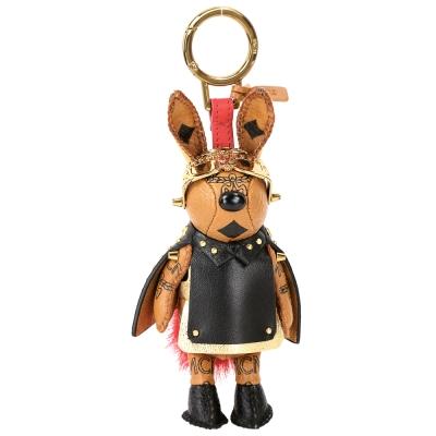 MCM RABBIT 太空飛行造型兔子鑰匙圈/吊飾(棕x金色)