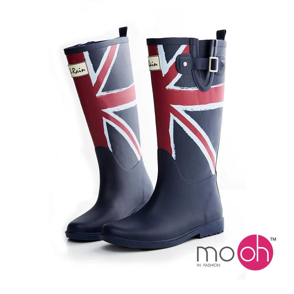 mo.oh愛雨天-英國國旗防水長筒雨鞋雨靴