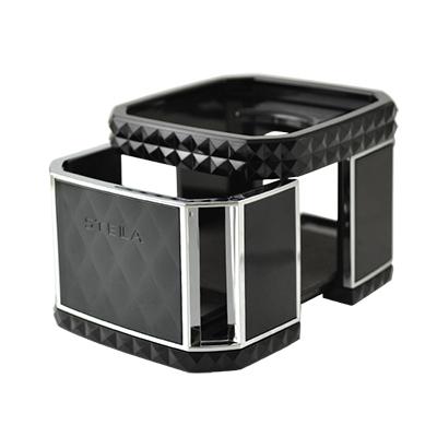 星光產業 晶鑽方 冷氣孔飲料架(黑)EB-160