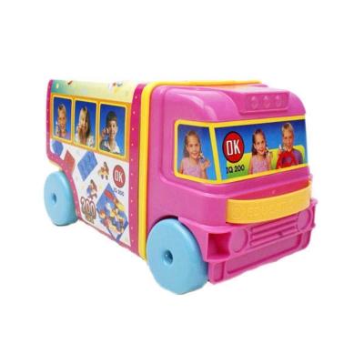 【OK積木】巴士提盒造型/附收納箱/200片裝