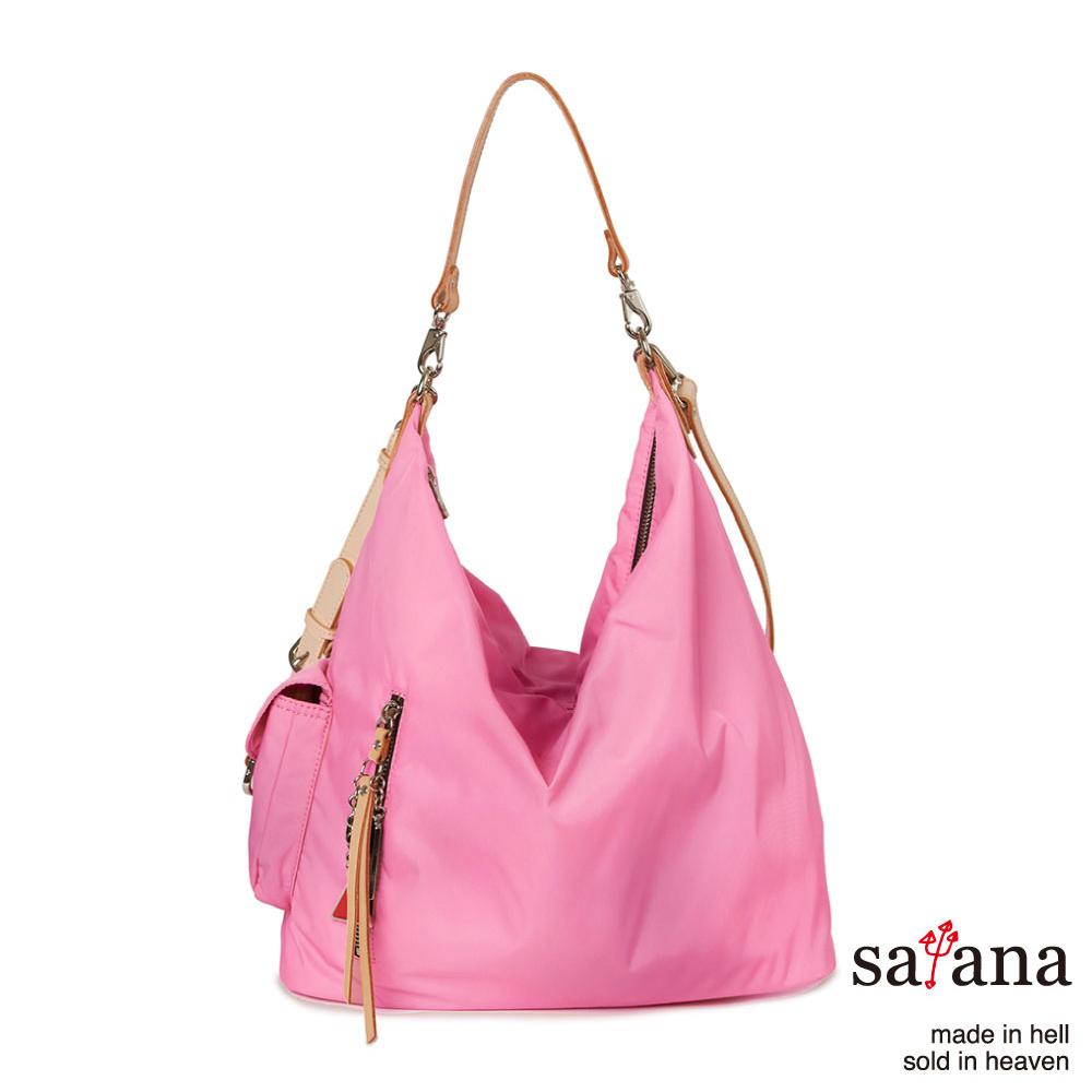 satana -929 Ladies 都會摩登 率性肩背包-凡爾賽玫瑰