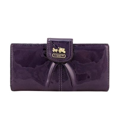 COACH MADISON 馬車漆皮卡片中夾(紫)