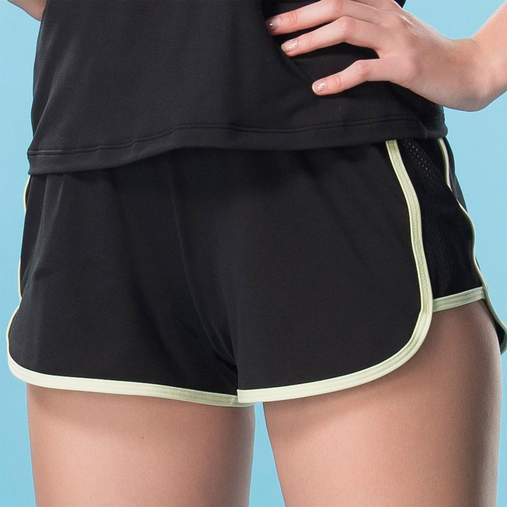 華歌爾-專業運動  M-LL 短褲(黑)吸濕快乾