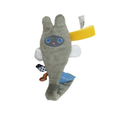 荷蘭Snoozebaby小飛兔布標奶嘴鍊夾-時尚灰-單一尺寸