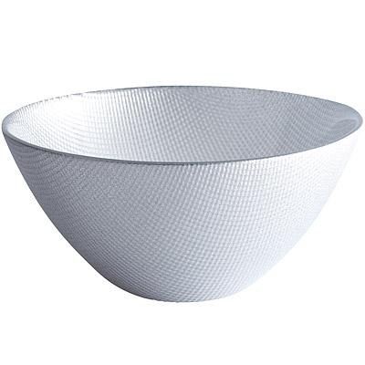 EXCELSA Diamond菱紋玻璃碗(銀15cm)