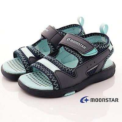 日本月星頂級童鞋 輕Q止滑涼鞋款 CON455深藍(中小童段)