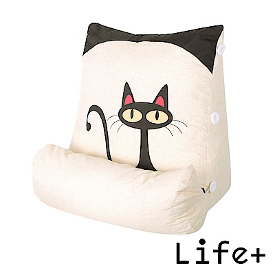 Life Plus Good Day立體舒壓萬用枕/抱枕/腰靠枕 (小黑貓)