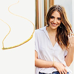 GORJANA 美國品牌 Taner Bar Necklace完美平衡鑲18K金項鍊
