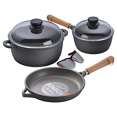 Berndes 德國 寶迪 單柄湯鍋含蓋 20cm+雙耳湯鍋24cm+平底煎鍋24cm