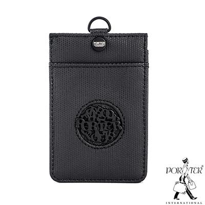 PORTER-風尚品味-掛繩證件套-黑