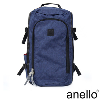 anello 高機能性簡約立體剪裁後背包 深藍