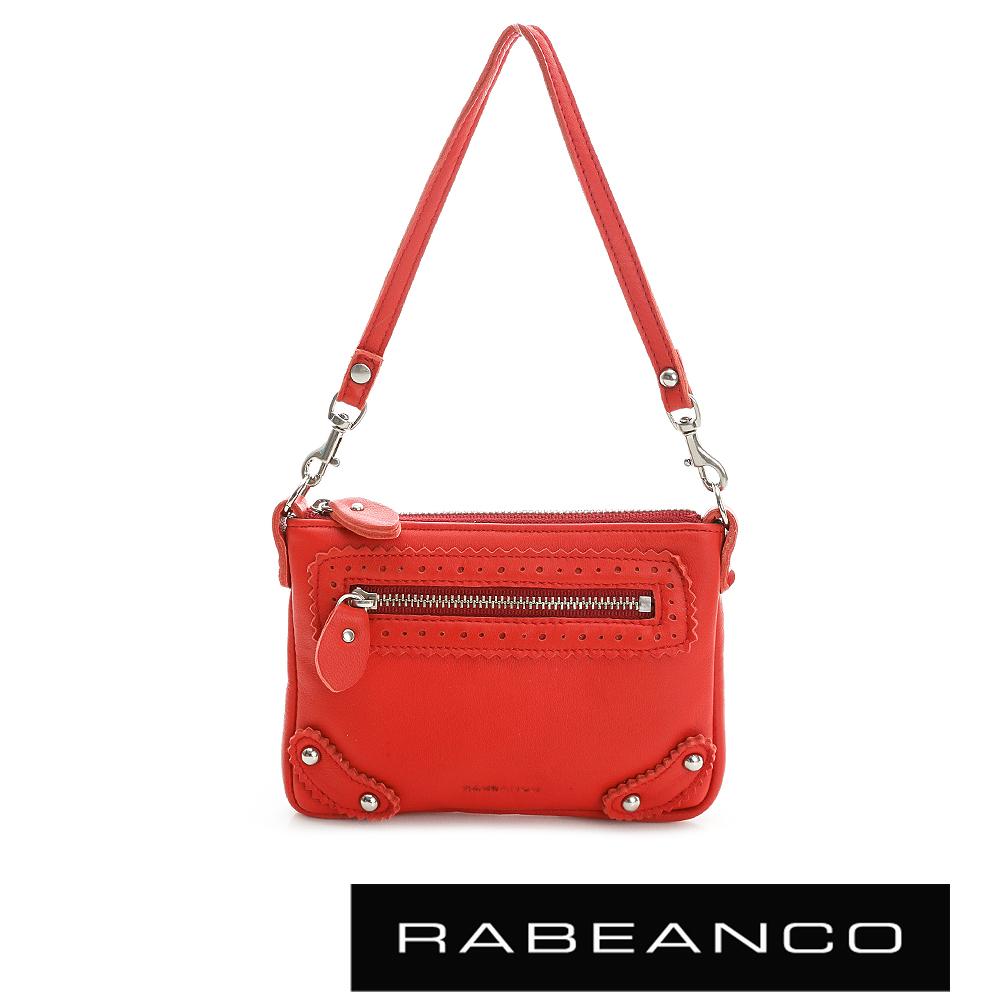 RABEANCO 時尚手拎小零錢包 紅