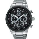 ALBA 即時行動 三眼計時腕錶(AT3971X1)-黑/45mm