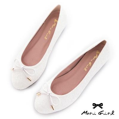Mori girl 心機內增高蕾絲亮片娃娃鞋 白