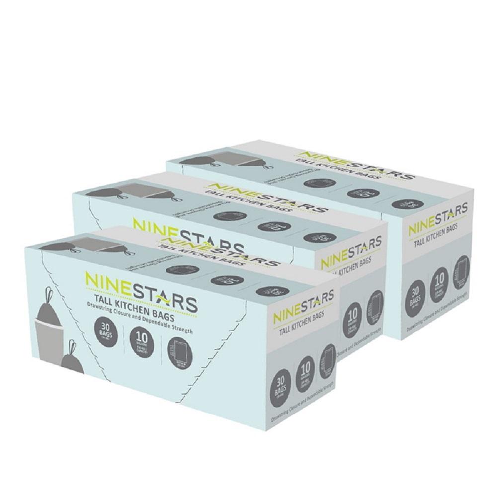 美國NINESTARS專業收納垃圾袋40L-超值-三入組