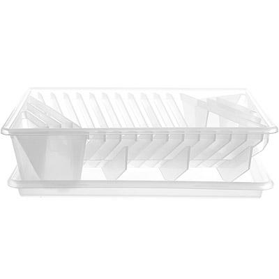 EXCELSA 餐具碗盤瀝水架(白)