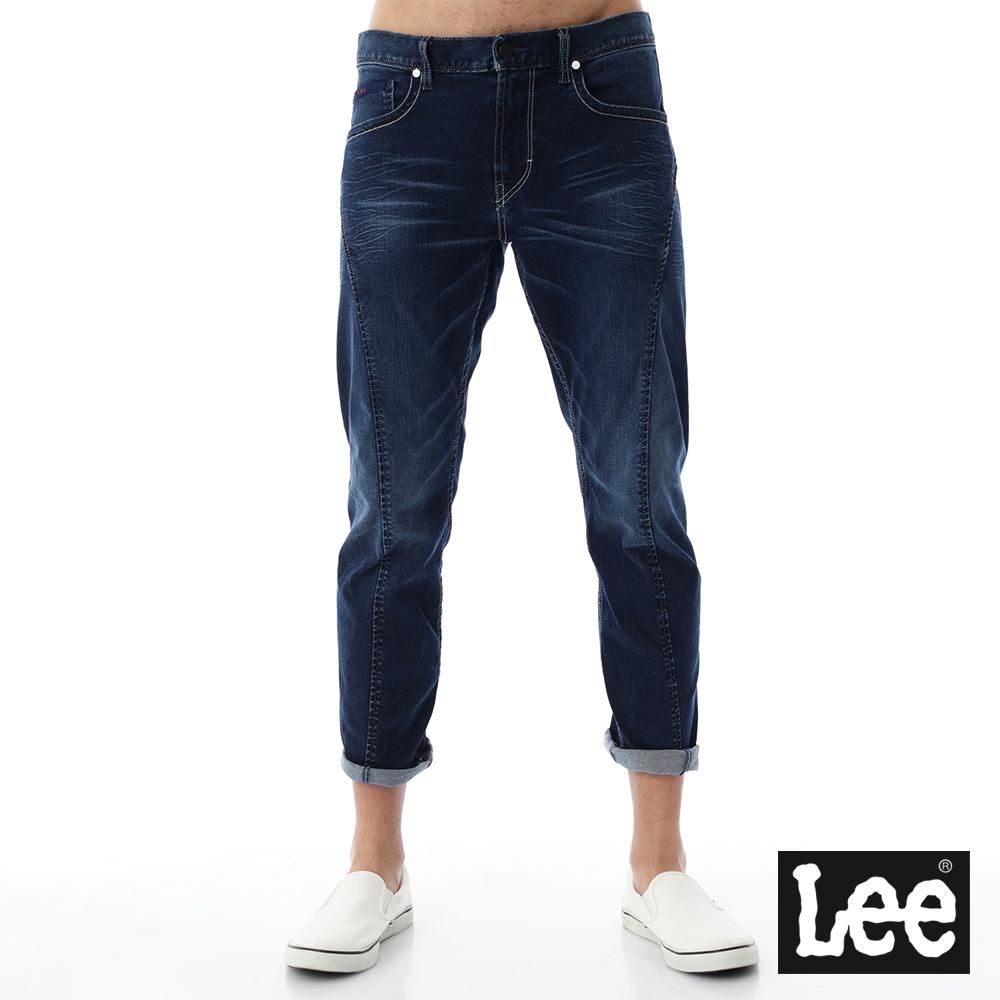 Lee 牛仔褲 755低腰標準小直筒牛仔褲/UR-男款-藍