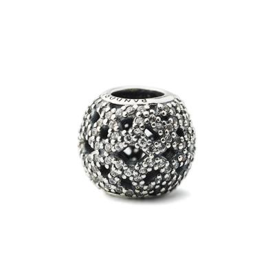 Pandora 潘朵拉 編織型滿鑲鋯石墜