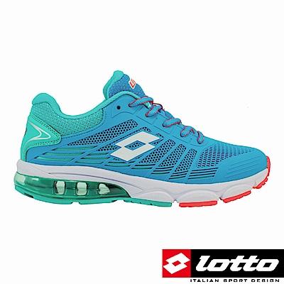 LOTTO 義大利 女 PHOENIX KPU氣墊跑鞋(水藍)