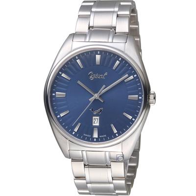 Ogival 愛其華知性韻調時尚紳士錶(350-01MS)藍/40mm