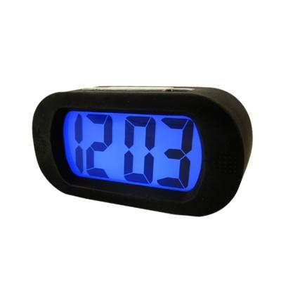 [美德生活]長方形簡約LCD電子時鐘(黑)