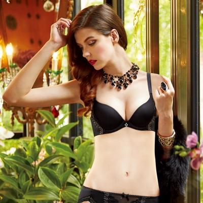 曼黛瑪璉 Marie One 刺繡蕾絲內衣  B-E罩杯(黑)