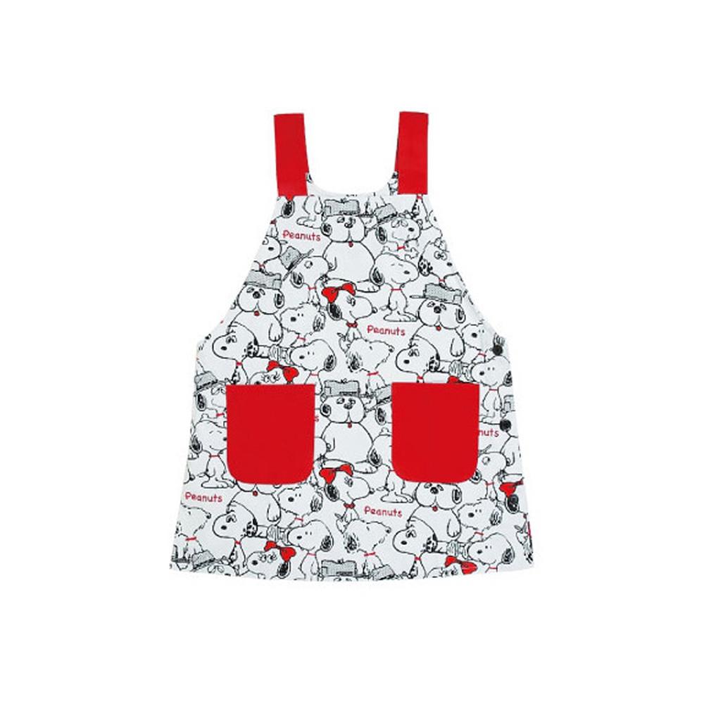 《Sanrio》SNOOPY滿版塗鴉圍裙