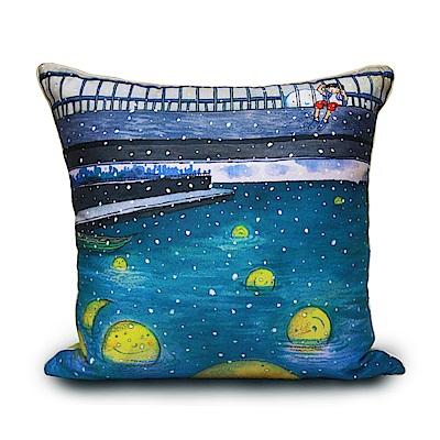 繪見幾米 月亮忘記了 20週年好完美數位抱枕