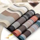 PUSH!餐具用品 西餐墊防滑餐墊餐桌墊子杯墊條紋款10入E80