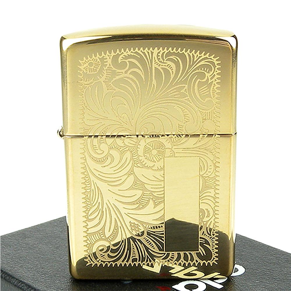 ZIPPO美系-Venetian威尼斯人雕花圖案設計-黃銅拋光鏡面打火機