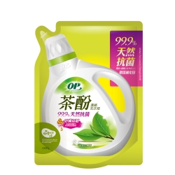 OP 茶酚天然抗菌濃縮洗衣精補充包 防蹣低敏1500ml