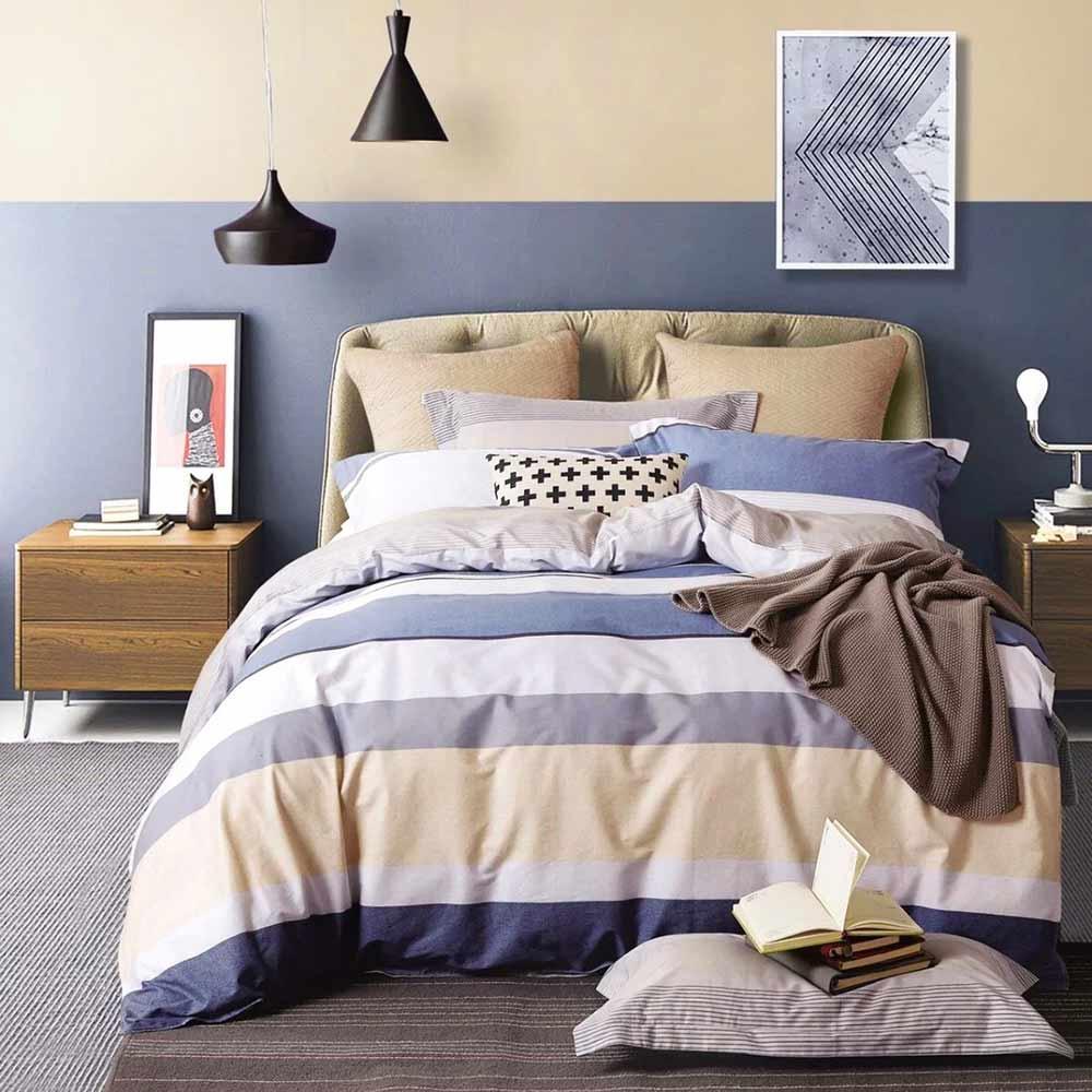 Ania Casa紳士之約 加大四件式 100%精梳棉 台灣製 床包被套純棉四件組
