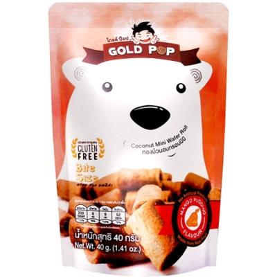 Goldpop 一口點心捲-芒果布丁(40g)