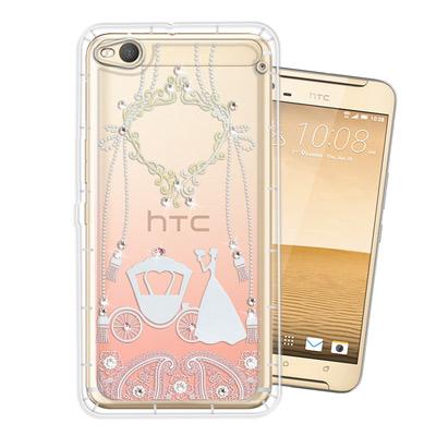 WT HTC One X9 奧地利水晶彩繪空壓手機殼(精靈捧花)