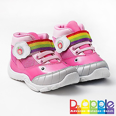 【Dr. Apple 機能童鞋】可愛小鯨魚造型透氣童鞋 粉